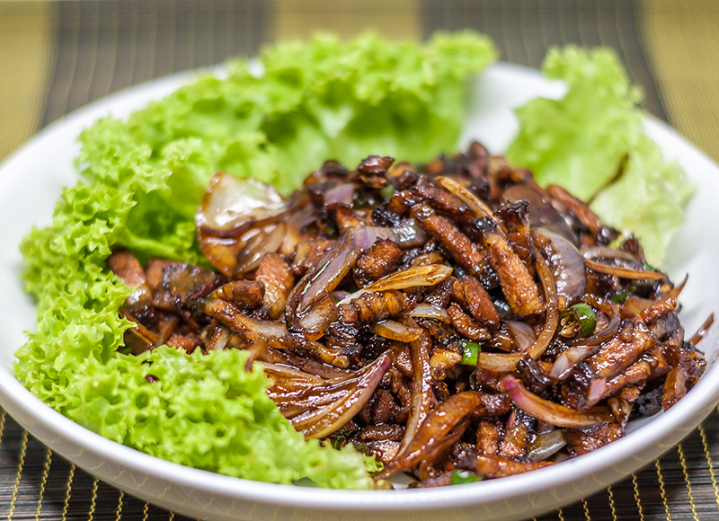 Stir Fried Roasted Pork with Chilli Padi