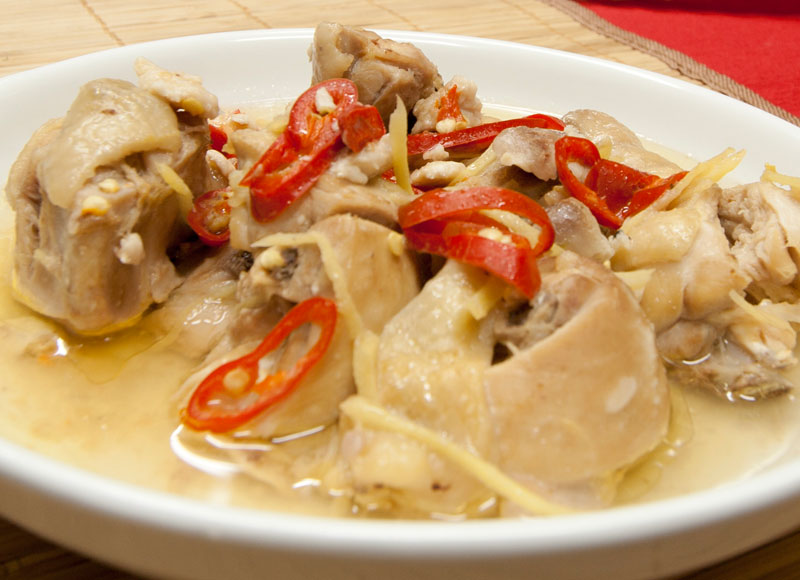 Steamed Chicken with Salted Fish