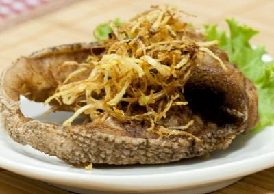 Fried Fish Meat with Ginger