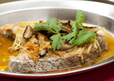 Steamed Fish Meat with Soy Sauce