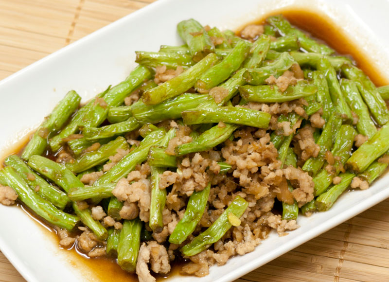 Stir Fried French Bean with Minced Pork