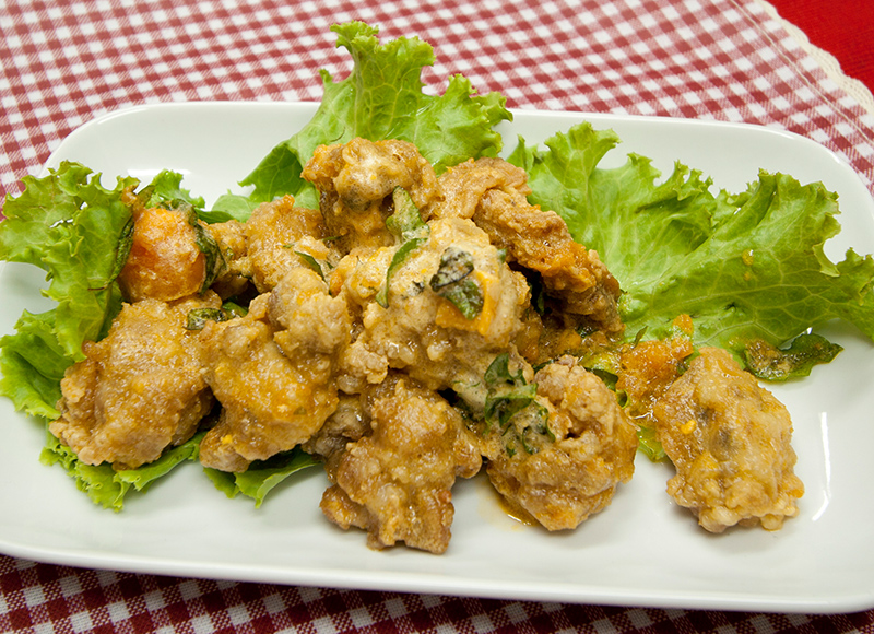 Salted Egg Chicken Cutlet
