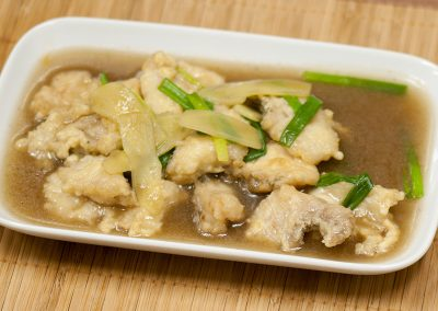 Fish Fillet with Ginger & Spring Onion