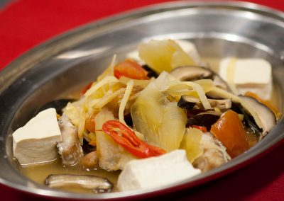 Steamed Fish Meat Teo Cheow Style