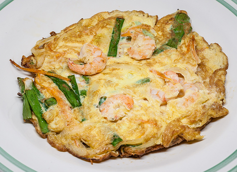 Omelette with Prawn