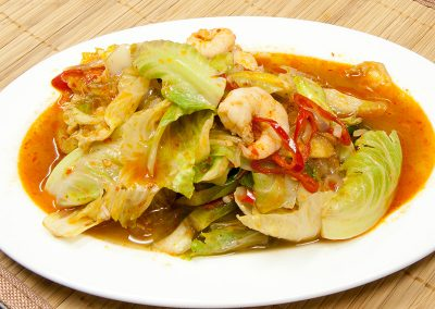 Sambal Belacan Brussels Sprout with Prawns