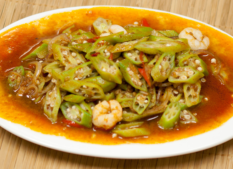 Sambal Belacan Lady's Fingers with Prawns