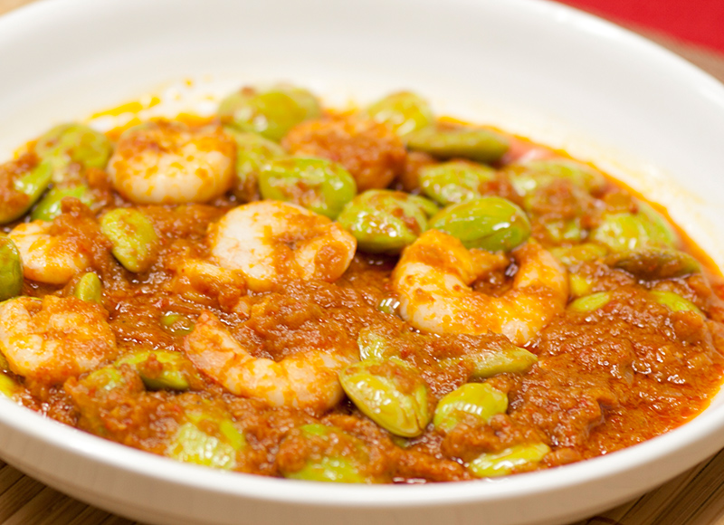 Special Sambal Petai with Prawns