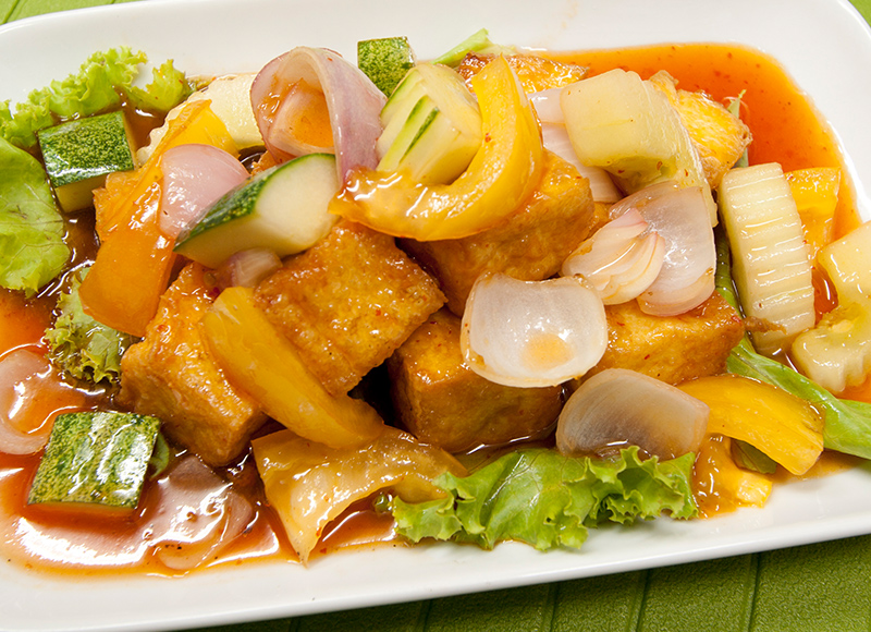 Sweet & Sour Home Made Tofu