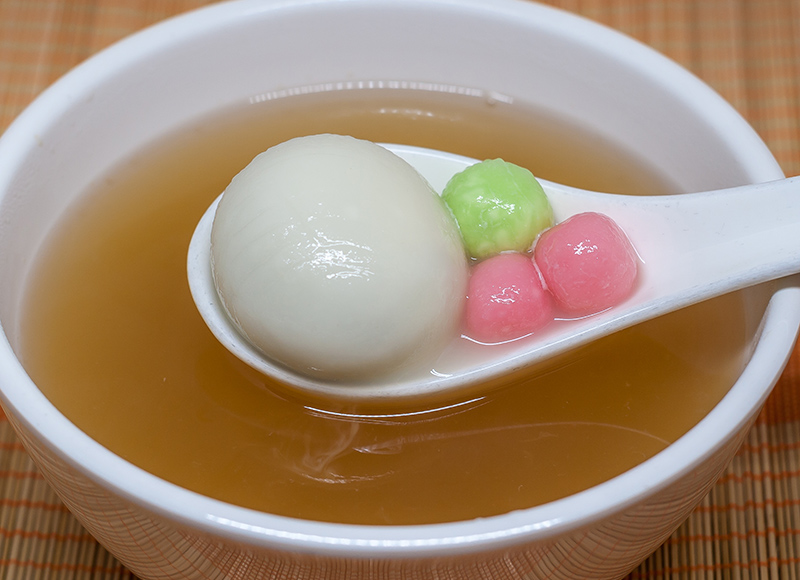 Ginger Tea with Rice Balls